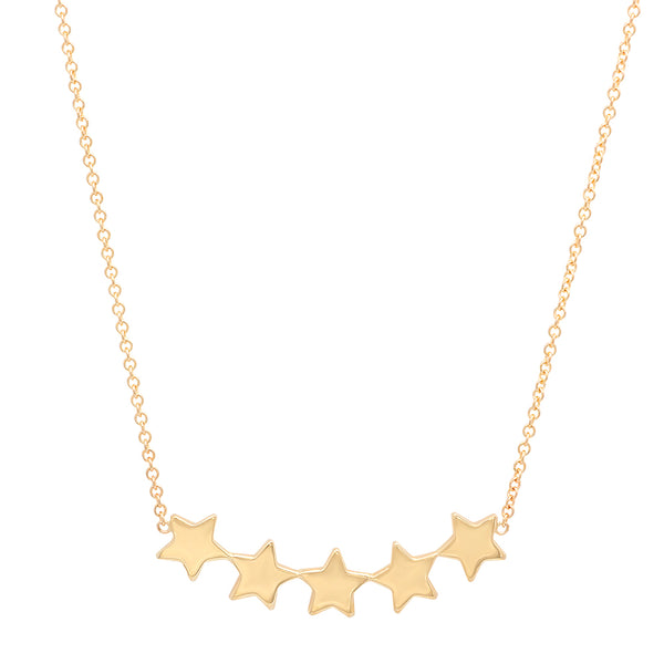Five Star Dainty Gold Necklace