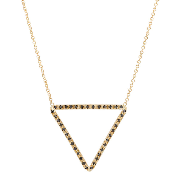 Grandiose Open Triangle Diamond Necklace