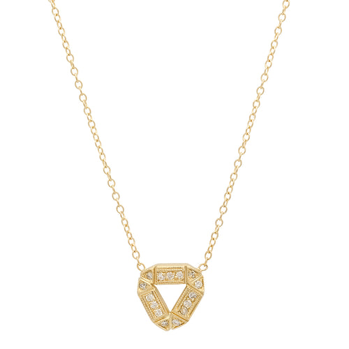 Baby Open Triangle Diamond Necklace