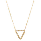 Moderate Open Triangle Diamond Necklace
