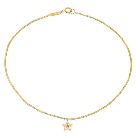 Mini Heart Gold Anklet