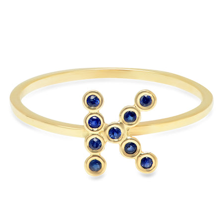 Remarkable Multi-Color Sapphire X Ring
