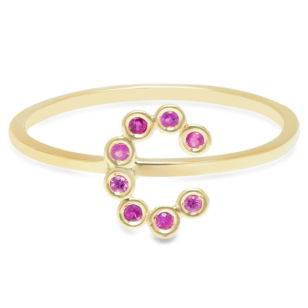 DSJ's Signature Birthstone & Initial Ring