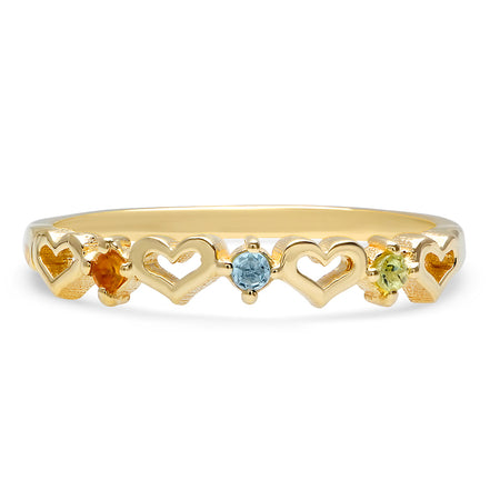 DSJ's Signature Meaningful Heart Birthstone Ring