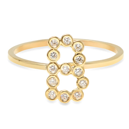 Delicate Snake Multi-Color Diamond Ring