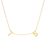 DSJ's Signature Meaningful Multi Gold Number Necklace