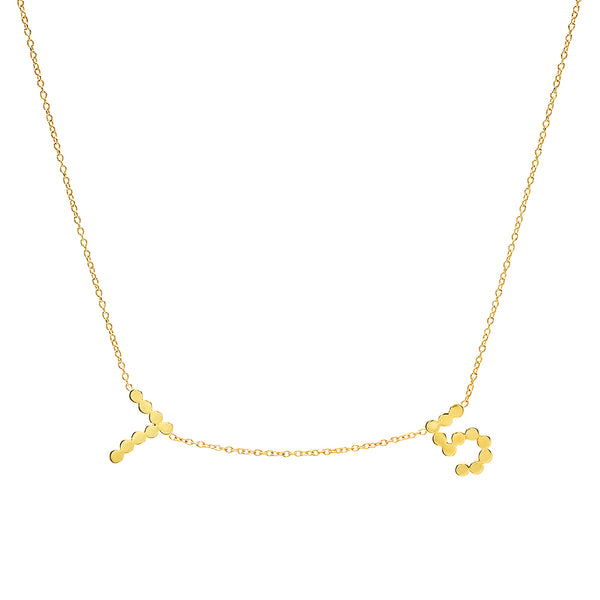 DSJ's Signature Multi Gold Number Necklace