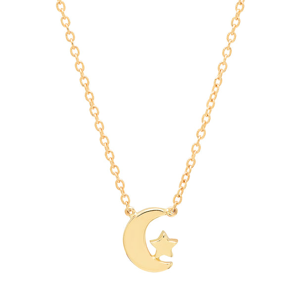 """You Are The Star Of My Moon"" Gold Necklace"