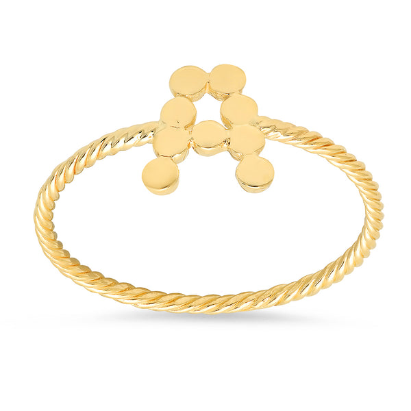 DSJ's Signature Meaningful Twisted Gold Initial Ring
