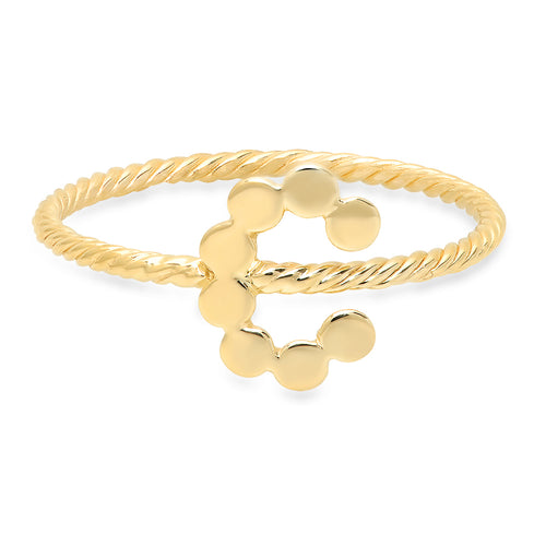 DSJ's Signature Twisted Gold Initial Ring