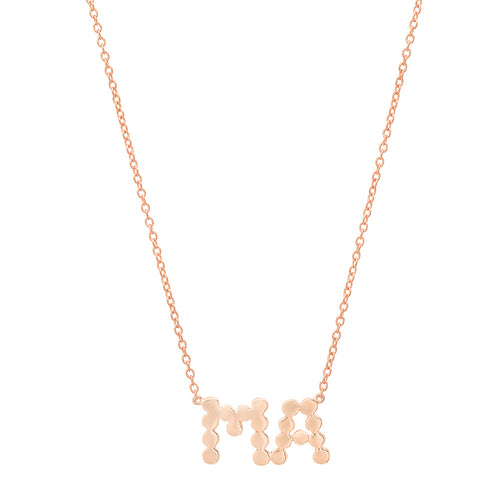 "DSJ's Signature Meaningful Gold ""MA"" Necklace"