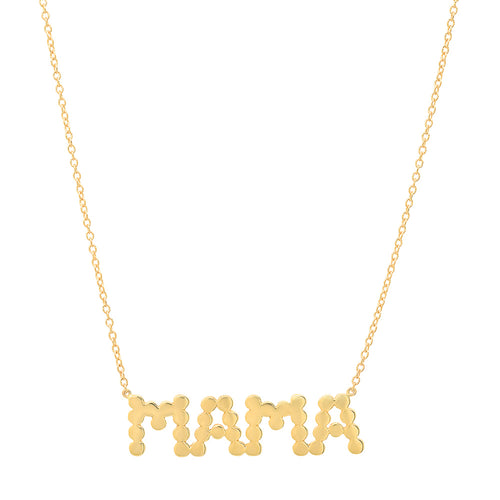 "DSJ's Signature Meaningful Gold ""MAMA"" Necklace"