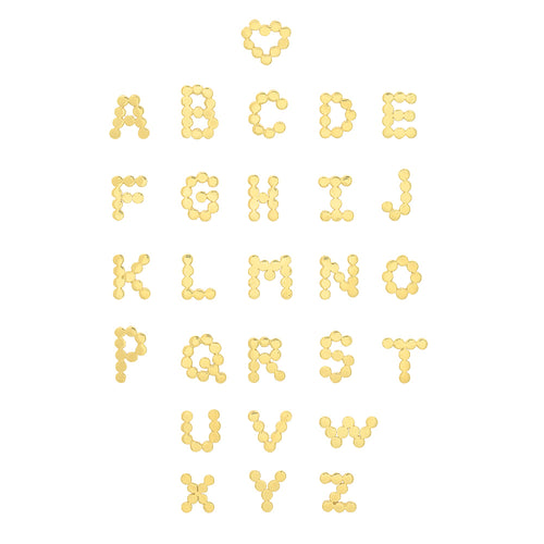 (6 Precious Initials) DSJ's Signature Meaningful Multi Gold Initial Necklace