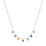 'You Are My Rainbow' Multi Color Sapphire Necklace