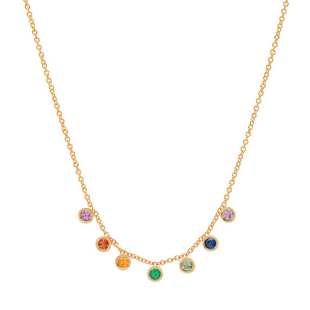 Dana Seng Signature Libra Zodiac With Precious Birthstone Necklace