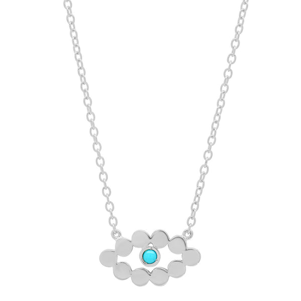 Evil Eye Birthstone Necklace