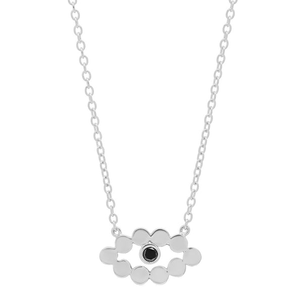 Evil Eye Black Diamond Necklace