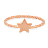 Baby Star Twisted Gold Ring