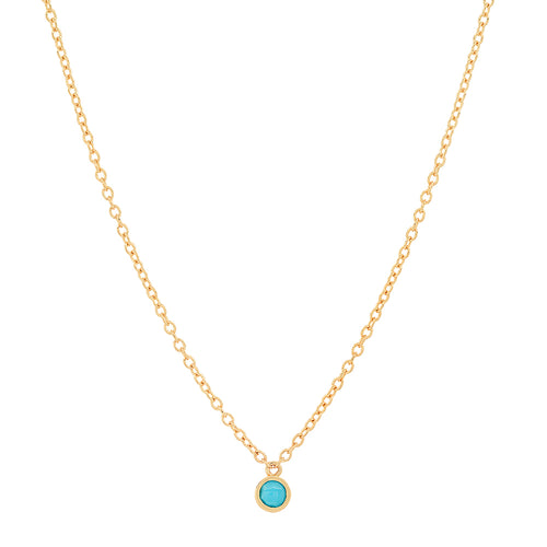 Single Precious Birthstone Necklace