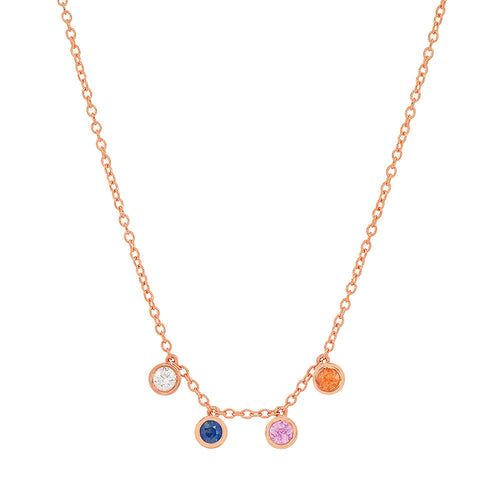 """4 Precious Birthstones"" Necklace"
