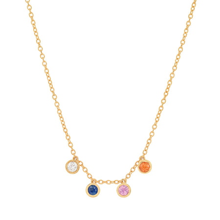 """3 Precious Birthstones"" Necklace"