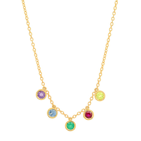 Dana Seng Signature Aries Zodiac With Precious Birthstone Necklace