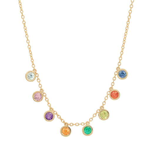 """8 Precious Birthstones"" Necklace"