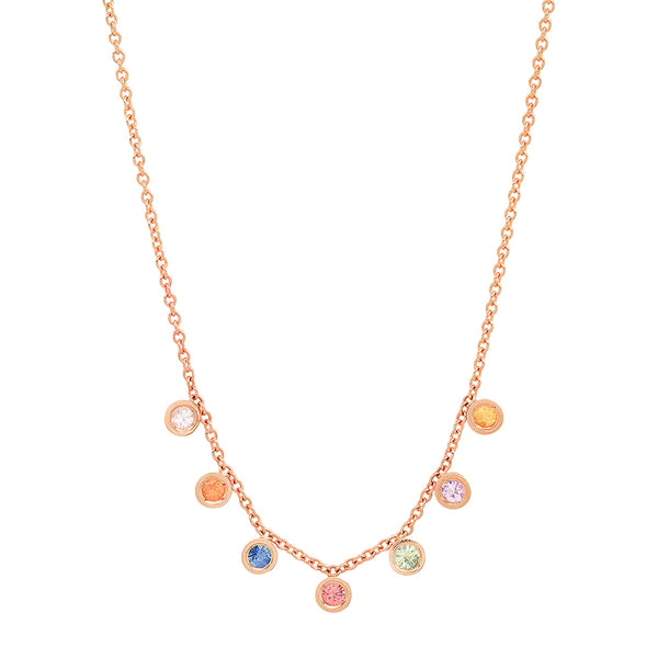 """7 Precious Birthstones"" Necklace"