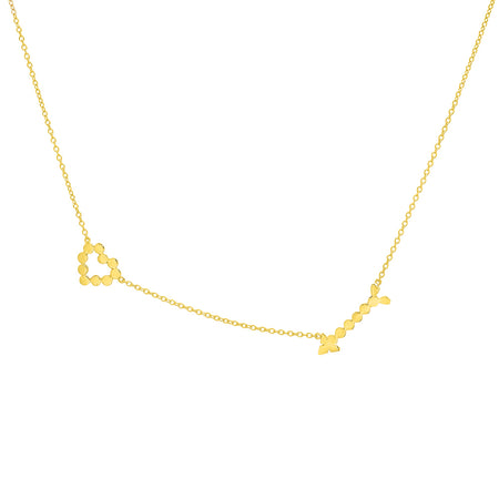 Dana Seng Signature Cancer Zodiac With Precious Birthstone Necklace