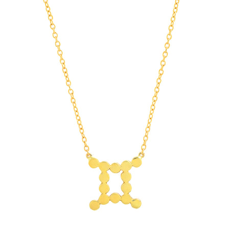 Dana Seng Signature Capricorn Zodiac With Precious Birthstone Necklace