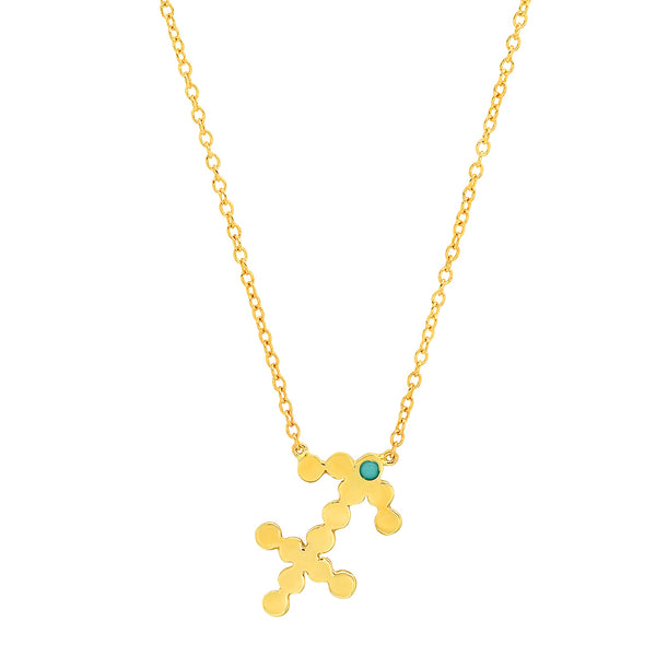 Dana Seng Signature Sagittarius Zodiac With Precious Birthstone Necklace