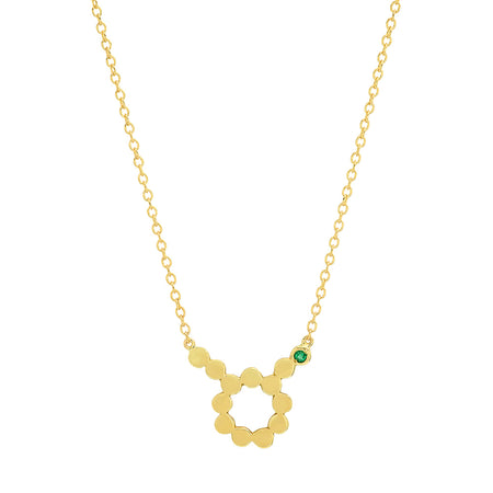 Dana Seng Signature Scorpio Zodiac With Precious Birthstone Necklace