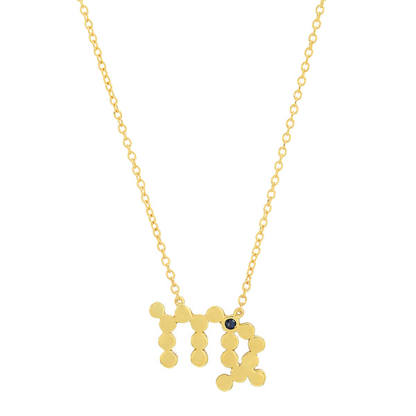 Dana Seng Signature Virgo Zodiac With Precious Birthstone Necklace