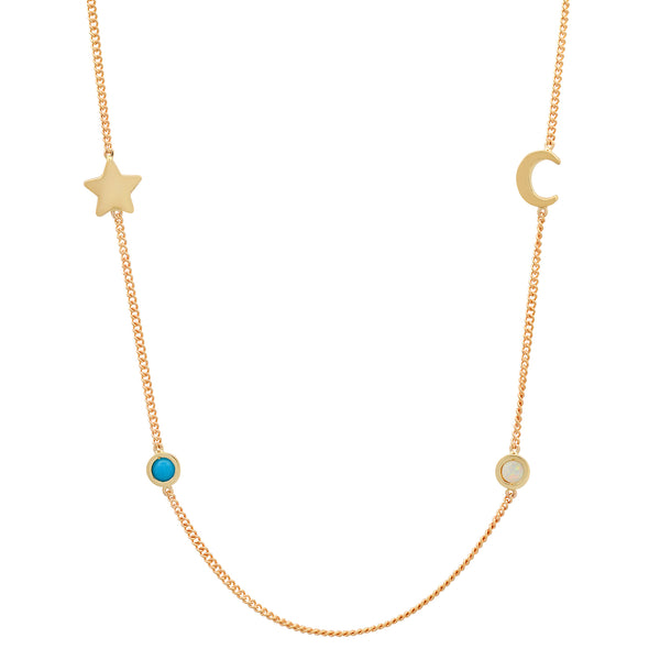 Meaningful Birthstone Curb Chain Necklace