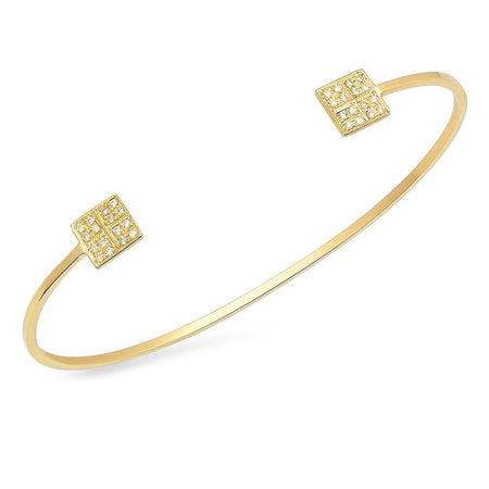 Two Tones Baby Butterflies Gold Open Cuff