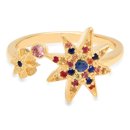 You Are My Rainbow Multi-Color Sapphire Ring