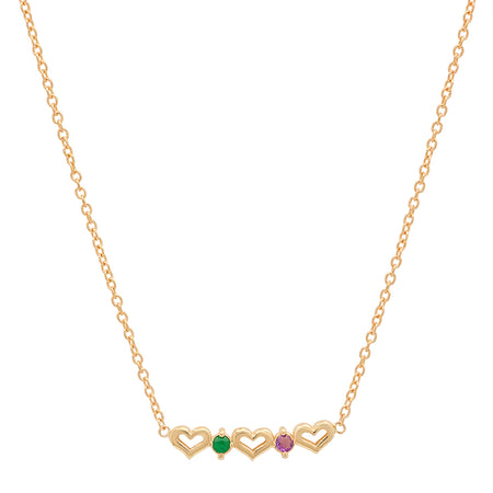 Precious Heart Shaped Emerald Necklace