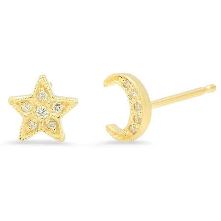 DSJ's Signature Meaningful Birthstone & Initial Stud Earring