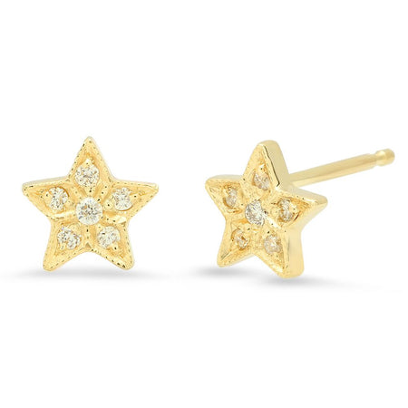Gleaming Diamond Bar Stud Earrings