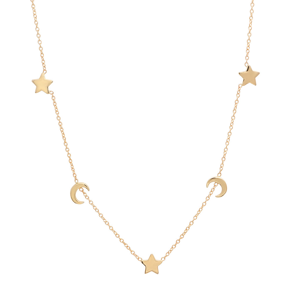 gold coin link necklace product chic small white shine designer and roberto