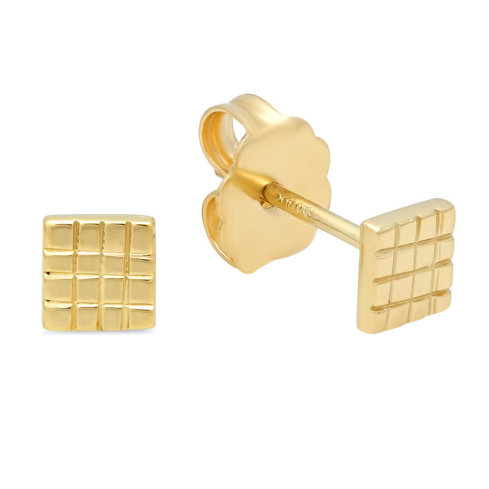 design o gold ring stud earrings simple fashion