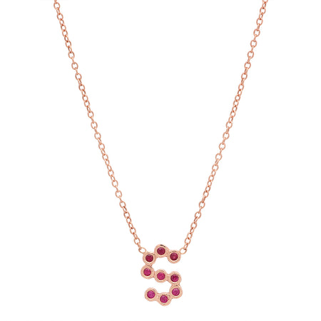 (6 Initials) DSJ's Signature Meaningful Multi Birthstone/Initial Necklace