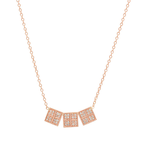 Dazzling Moment Diamond Necklace Rose Gold