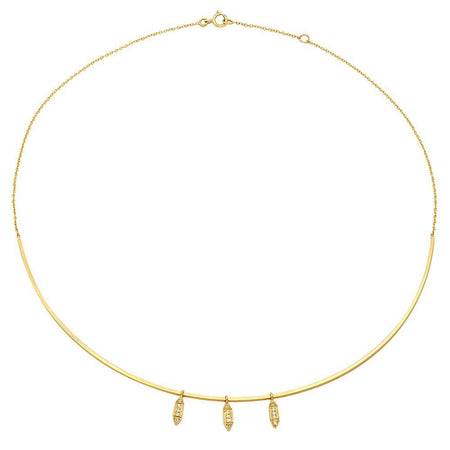 Modest & Forever After Dangling Semi-precious Stones Choker Necklace