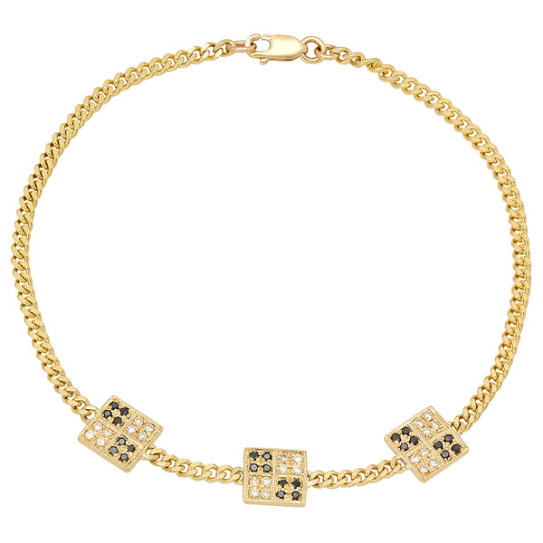 Float Rectangular Diamonds Bracelet