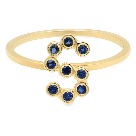Remarkable X Gold Bead Ring