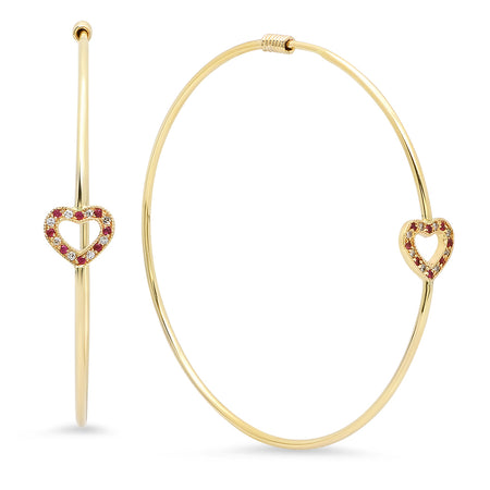 Baby Almond Diamond Open Ear Hoops