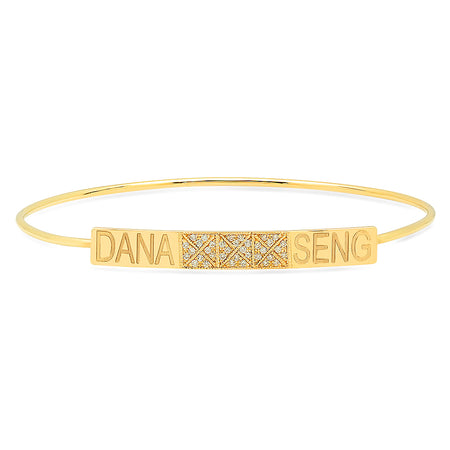 Blazing Fire Diamond Bangle