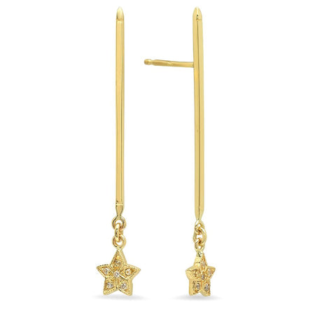 DSJ'S Gold Bar Earrings