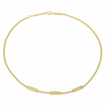 Ternary Charms Diamond Choker Necklace
